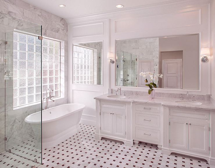 Creative Bathroom Look At These White Marble Bathroom Wall Tiles Ideas Below