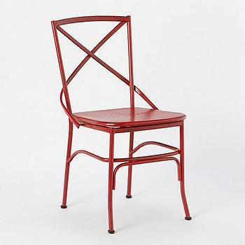 Seating - Cross Back Dining Chair - Terrain - red, iron, garden, chair, dining, cafe, vintage,