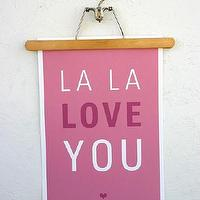 Art/Wall Decor - La La Love You Poster - SparklePower - Etsy - pink, poster, modern, art, kids, nursery, bedroom, playroom,