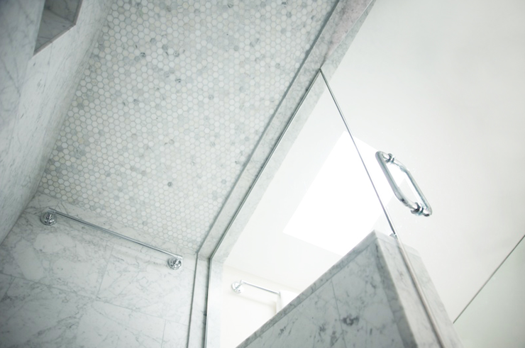 Marble Shower Ceiling Transitional Bathroom Scott