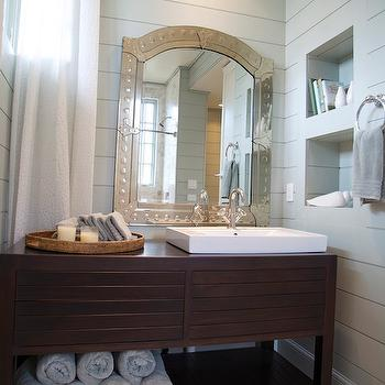 Modern Washstand, Cottage, bathroom, Tracery Interiors