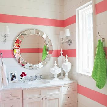 Girl's Bathroom Design, Contemporary, bathroom, Tracery Interiors
