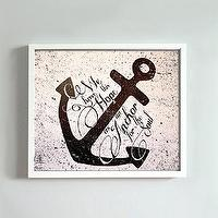 Art/Wall Decor - Anchor print by GusAndLula - Etsy - black, white, words, anchor, verse, inspiration, art, print,