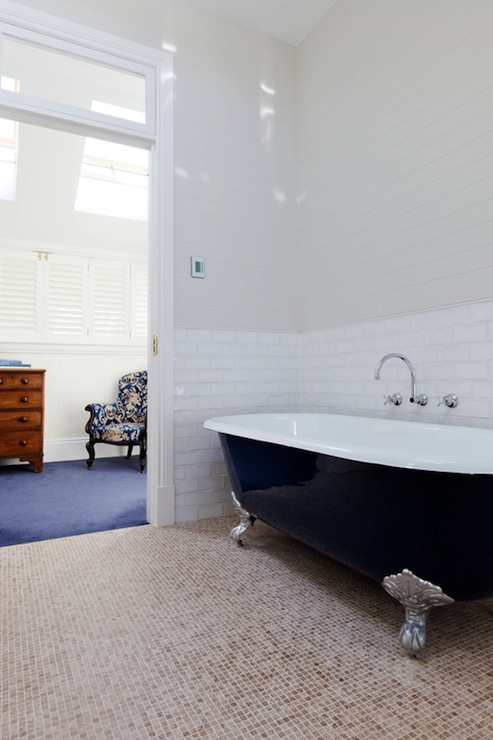 Blue Clawfoot Tub Eclectic Bathroom Arent Amp Pyke