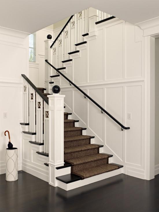 Sisal Stair Runner Traditional Entrance Foyer Polsky