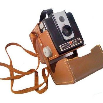 Decor/Accessories - one sydney road - brownie hawkeye kodak camera - camera, retro, leather, media, decor,