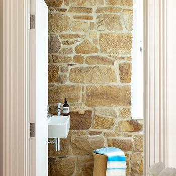 Stone Wall, Country, bathroom, Arent & Pyke