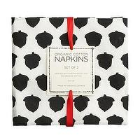 Decor/Accessories - one sydney road - acorn table napkins - black, white, table, linens, napkins, cotton, organic, acorns, fall,
