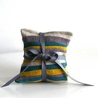 Decor/Accessories - one sydney road - lavender sachets (set of 3) - striped, lavender, sachets, grey, gray, yellow, teal, natural,