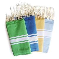 Decor/Accessories - one sydney road - colorful towels (foutas) - blue, green, yellow, towels, cotton, striped, fringe,