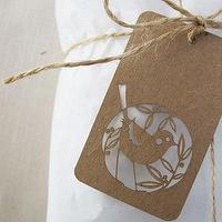 Decor/Accessories - one sydney road - birdie tags - set of 10 - paper, brown, tags, birds, nature, labels,