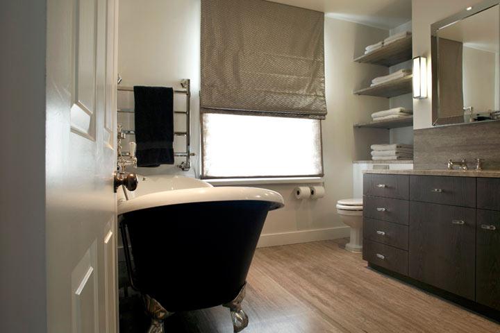 Black Clawfoot Tub Contemporary Bathroom Carden Cunietti