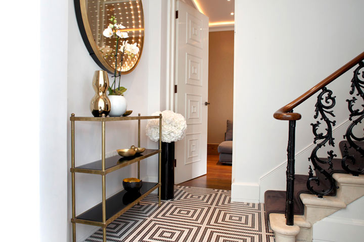 Brass Console Table - Contemporary - entrance/foyer - Carden Cunietti