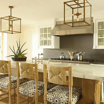 Seagrass Bar Stools, Cottage, kitchen, Bonesteel Trout Hall