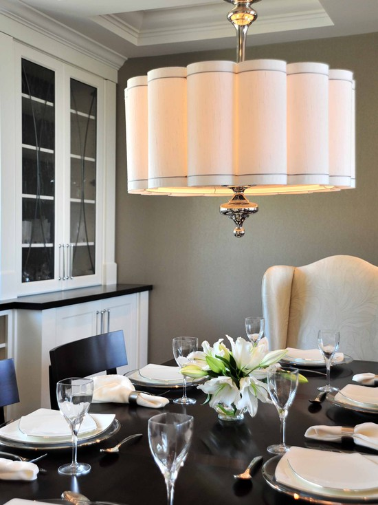 Scalloped Shade Pendant, Contemporary, dining room, Enviable Designs