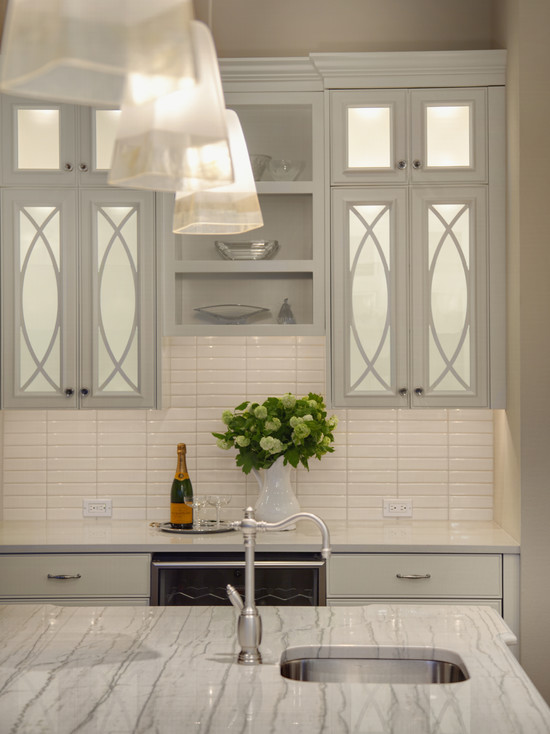 Mirrored Kitchen Cabinets Contemporary