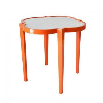 Tables - greenwich side table - Oomphonline - accent, side, table, end, orange, quatrefoil,