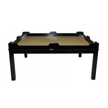 Tables - Edgartown Rectangular Coffee Table - Oomphonline - coffee, cocktail, table, black, laquer, contemporary,