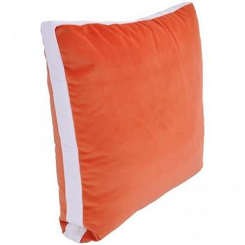 Pillows - velvet racetrack throw pillow - Oomphonline - pillow, velvet, orange, contemporary,