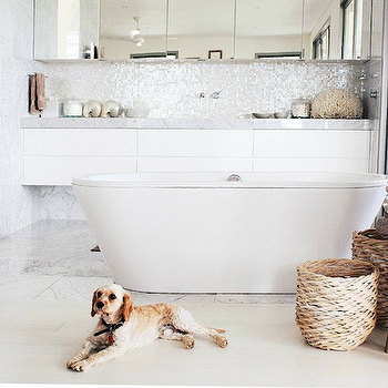 Floating Bathroom Vanity, Modern, bathroom, Hannah Blackmore Photography