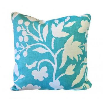 Pillows - synergy silhouette accent pillow - Oomphonline - turquoise, floral, graphic, modern, contemporary, pillow,