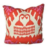 Pillows - kazak accent designer pillow - Oomphonline - pink, orange, cream, pillow, ikat,