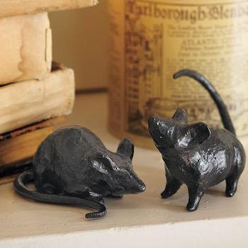 Miscellaneous - Bronze Mice | Pottery Barn - bronze, mice, halloween,