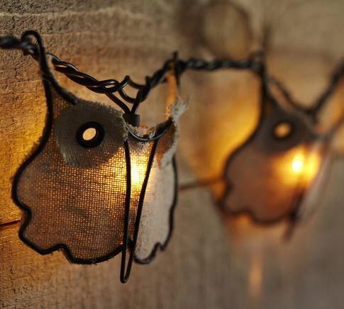 Burlap Owl String Lights Pottery Barn
