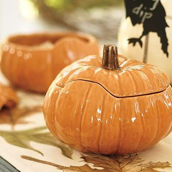 Pumpkin Serve Bowls, Pottery Barn