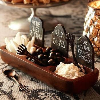 Tombstone Condiment Set, Pottery Barn