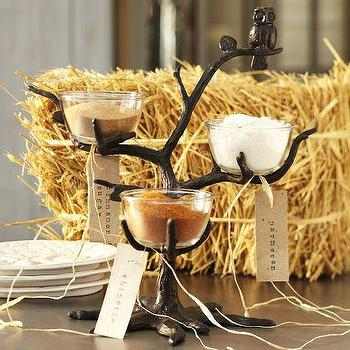 Miscellaneous - Owl Tree Condiment Set | Pottery Barn - owl, halloween, tableware,