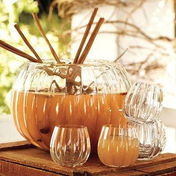 Miscellaneous - Pumpkin Punch Bowl | Pottery Barn - tableware, halloween, fall,