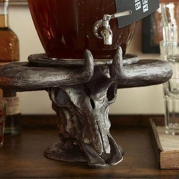 Steer Head Drink Dispenser Stand, Pottery Barn