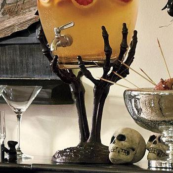 Miscellaneous - Skeleton Hand Drink Dispenser Stand | Pottery Barn - halloween, party, tableware,