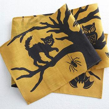 Miscellaneous - Sleepy Hollow Table Runner  | Wisteria - jute, runner, halloween,