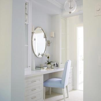 White and Blue Dressing Room, Transitional, bathroom, Lynn Morgan Design