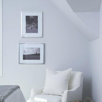 White and Gray Chair, Cottage, bedroom, Lynn Morgan Design