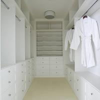 Lynn Morgan Design - closets: closet lighting, closet pendants, huge walk-in closets, crystal closet knobs, crystal closet hardware, closet shelves, built-in closet shelves, walk-in closets, closet built-ins, closet built-in cabinets, white closet cabinets, closet shelves, white closet shelves,