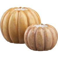 Miscellaneous - Marble Pumpkin Candleholders | Crate and Barrel - candleholders, pumpkins, fall, halloween,