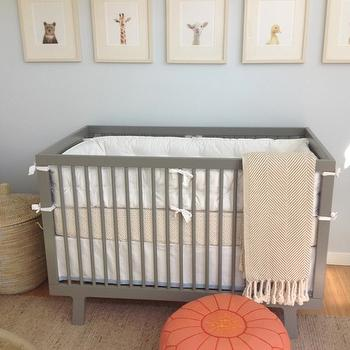 Blue and Gray Nursery, Contemporary, nursery, Amanda Teal Design