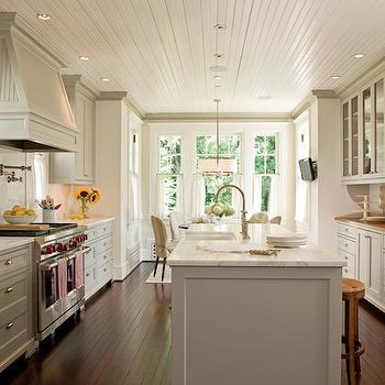 Beadboard Kitchen Ceiling -Transitional, kitchen, Anne Decker Architects