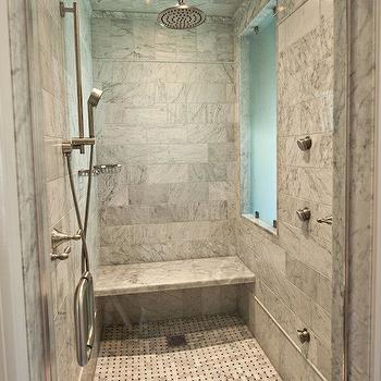 Marble Shower, Modern, bathroom, The Wills Company