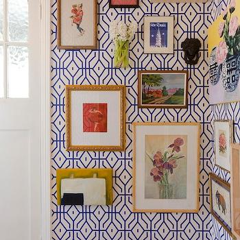 Geometric Wallpaper, Eclectic, entrance/foyer, Absolutely Beautiful Things
