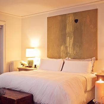 Canvas Art Headboard, Eclectic, bedroom, Chango & Co.