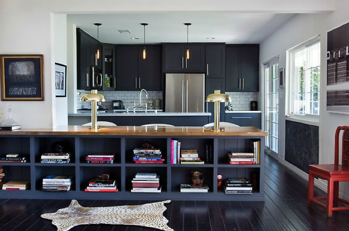 Black Kitchen Cabinets - Contemporary - kitchen - House of Honey