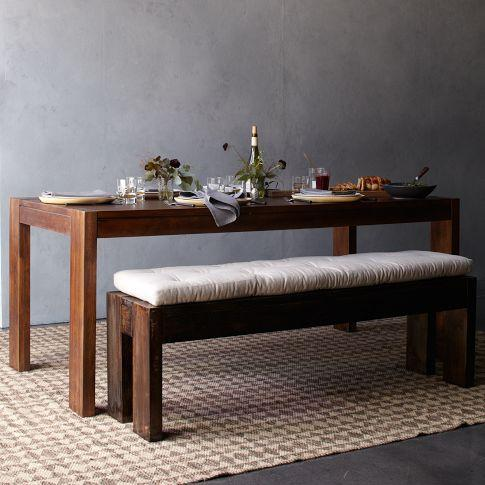 Seating - Boerum Dining Bench | west elm - rustic, mango, wood, bench, contemporary, farmhouse, dining