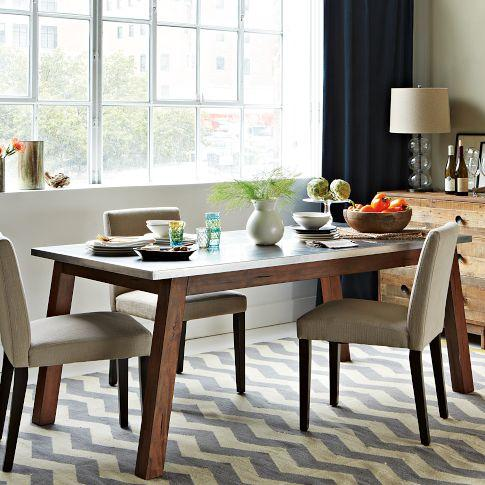 Mix + Match Table - Solid Wood Base /Stainless Steel Top ...