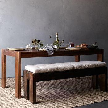 Tables - Boerum Dining Table | west elm - contemporary, farmhouse, parsons, table, dining, mango, wood,