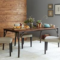 Tables - Mix + Match Table - Arbor Base / Solid Wood Top | west elm - cast, iron, tree, branches, steel, solid, wood, top, dining, table