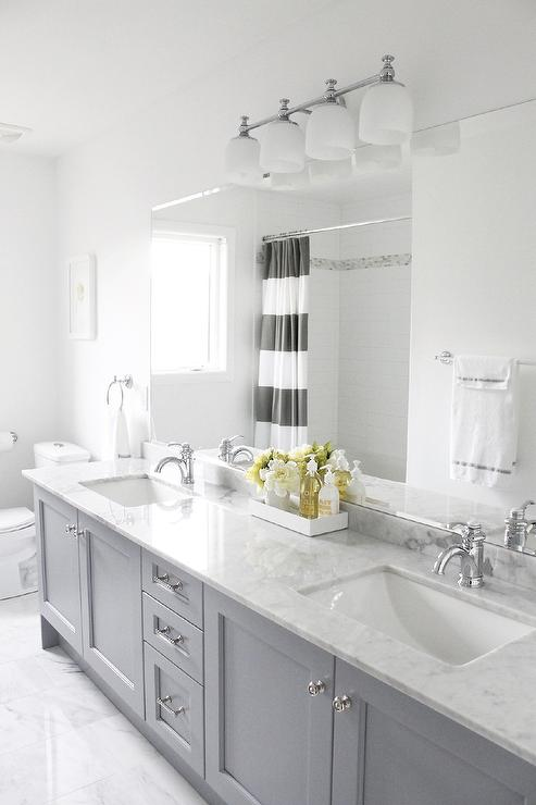 Bianco Statuario Marble Contemporary Bathroom